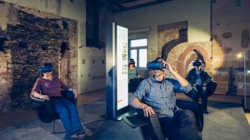 Virtual Reality Brillen, Schloss Rochlitz - Foto: Killig