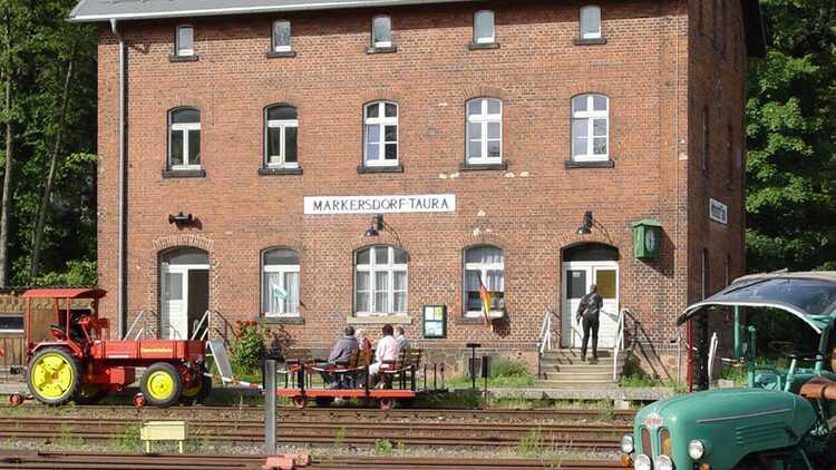 Museumsbahnhof Markersdorf-Taura - Foto: Eisenbahnfreunde Chemnitztal e.V.