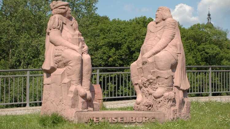 Brückenfiguren Wechselburg - P. Georg Roß