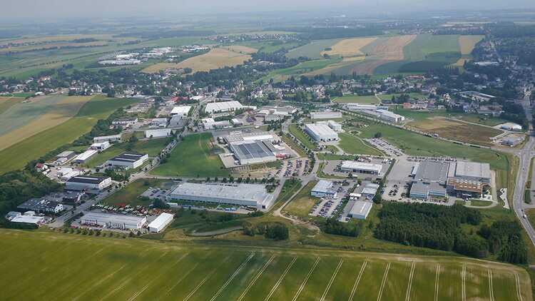 Blick auf Hartmannsdorf - Archiv Gemeinde Hartmannsdorf