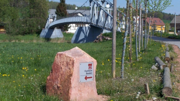 Erlebnistour Seelitz - am Schaukelsteg Sörnzig - Foto: HVV