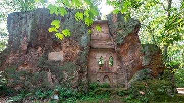 Porphyrlehrpfad Rochlitzer Berg - Einsiedelei - Foto: Bianka Behrami