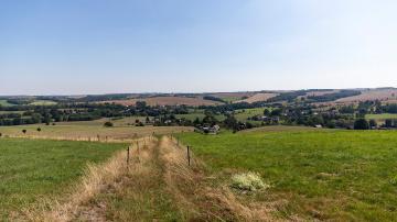 Walderlebnispfad Wechselburg - Blick nach Sörnzig - Foto: Bianka Behrami