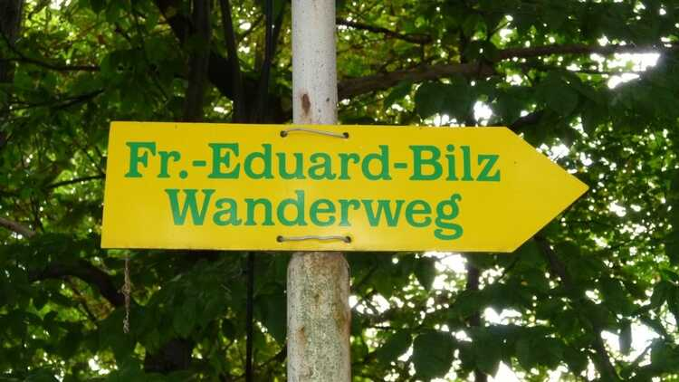 Wegweiser Bilz-Wanderweg - HVV