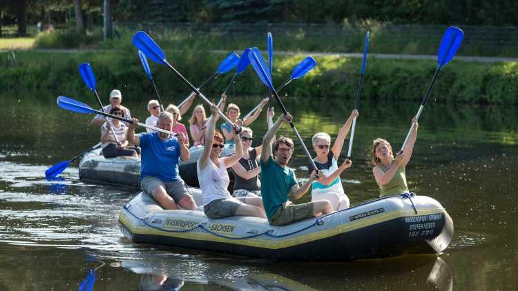 Schlauchboottour - Foto: Dirk Rückschloß, BUR-Werbung