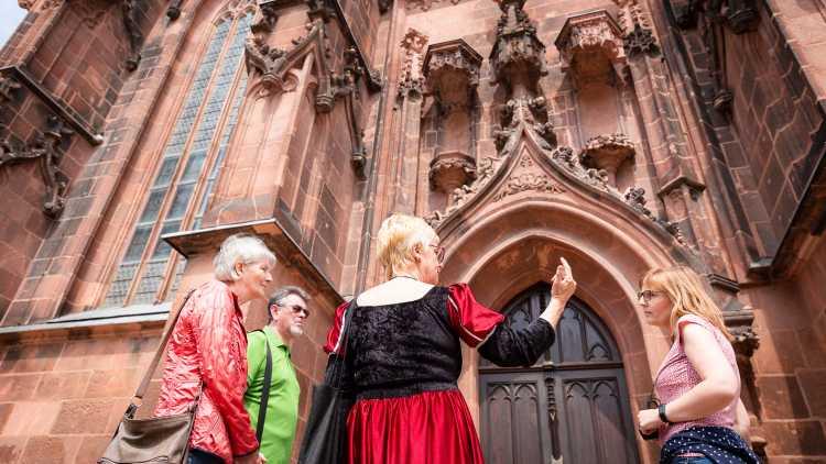 St. Kunigundenkirche Rochlitz - Stadtführung mit Herzogin Elisabeth von Rochlitz - Foto: Bianka Behrami